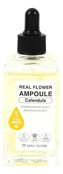 Купить Сыворотка для лица Real Flower Ampoule Calendula 100мл, May Island