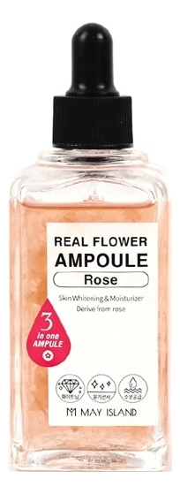 Сыворотка для лица Real Flower Ampoule Rose 100мл