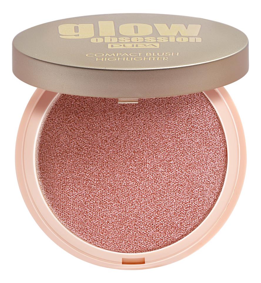 Компактные румяна для лица Glow Obsession Compact Blush Highlighter 4,5г: 002 Blossom