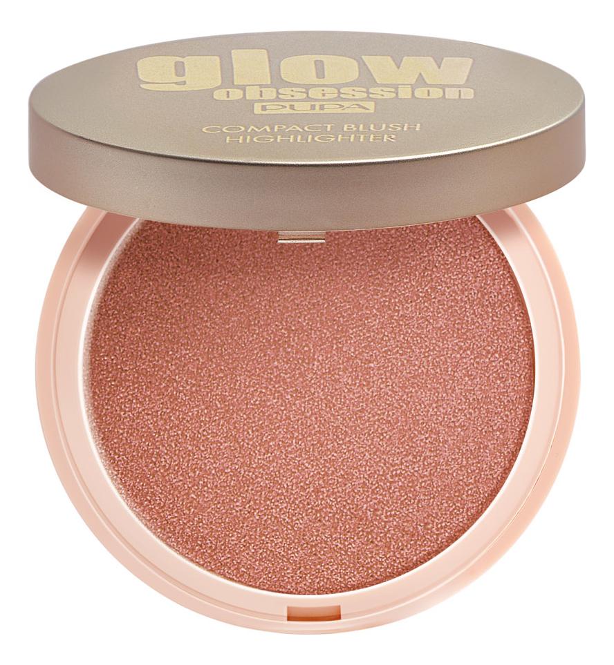Компактные румяна для лица Glow Obsession Compact Blush Highlighter 4,5г: 003 Sunset
