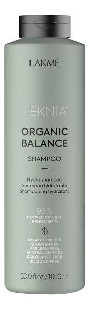 Бессульфатный увлажняющий шампунь для волос Teknia Organic Balance Shampoo: Шампунь 1000мл увлажняющий шампунь для волос argan essential deep care shampoo шампунь 1000мл