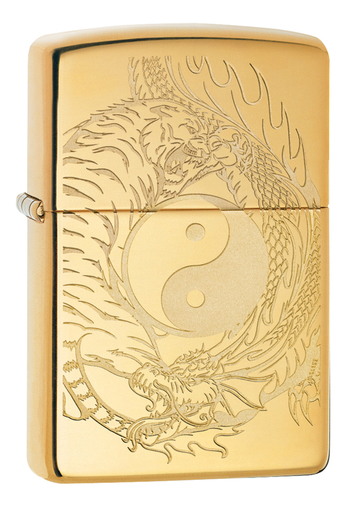 Зажигалка High Polish Brass Tiger And Dragon Design 49024