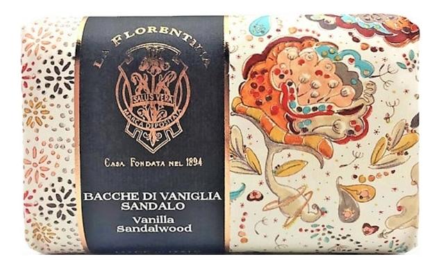 Мыло Giardino Segreto Bacche Di Vaniglia Sandalo Saponetta 270г, La Florentina  - Купить