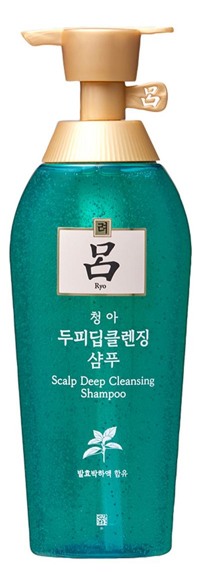 Очищающий шампунь для жирной кожи головы Scalp Deep Cleansing Shampoo: Шампунь 500мл освежающий шампунь для кожи головы hair clinic scalp care deep cleansing shampoo шампунь 180мл