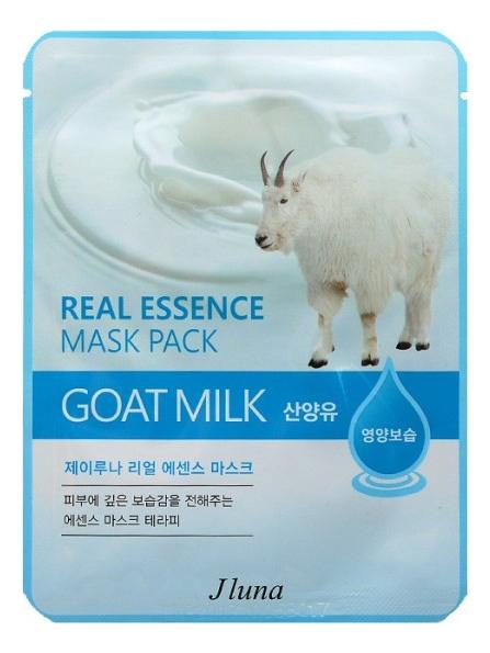 Купить Тканевая маска для лица с козьим молоком Real Essence Mask Pack Goat Milk 25мл: Маска 3шт, JUNO