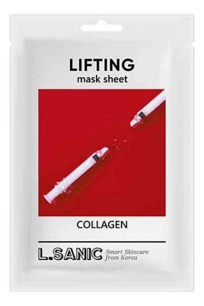 Купить Тканевая маска для лица с коллагеном Collagen Lifting Mask Sheet 25мл: Маска 3шт, L.Sanic
