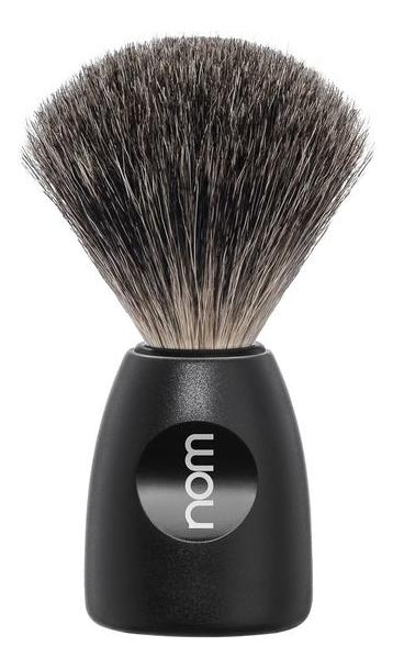 Купить Помазок натуральный барсучий ворс Nom Lasse (черный пластик), Muehle