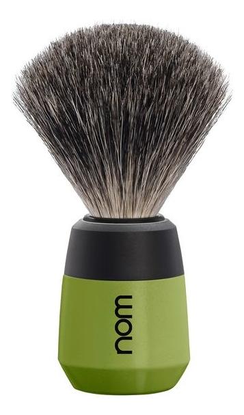 Купить Помазок натуральный барсучий ворс Nom Max (зеленый пластик), Muehle
