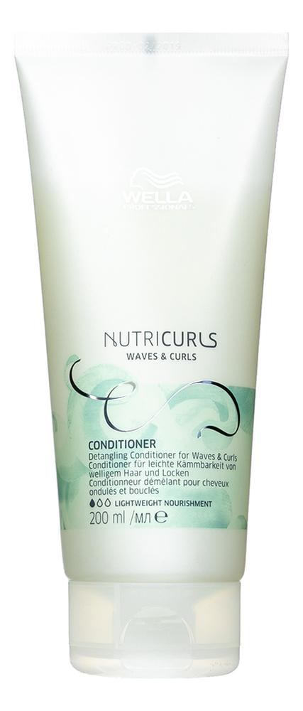 Бальзам облегчающий расчесывание кудрявых и вьющихся волос Nutricurls Conditioner Curls & Waves: 200мл