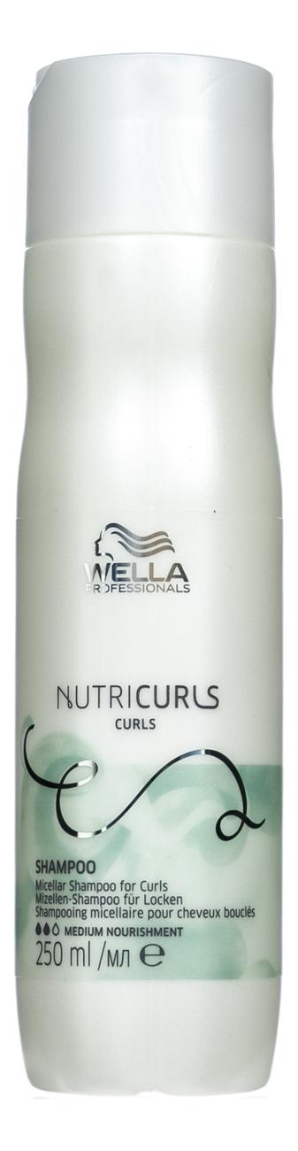 Купить Мицеллярный шампунь для кудрявых волос Nutricurls Micellar Shampoo 250мл: Шампунь 250мл, Wella
