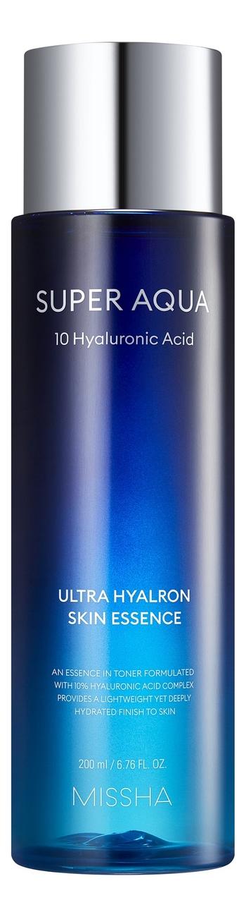 Фото - Увлажняющий тоник-эссенция для лица Super Aqua Ultra Hyalron Skin Essence 200мл регенерирующий тоник для лица super aqua cell renew snail skin treatment 130мл