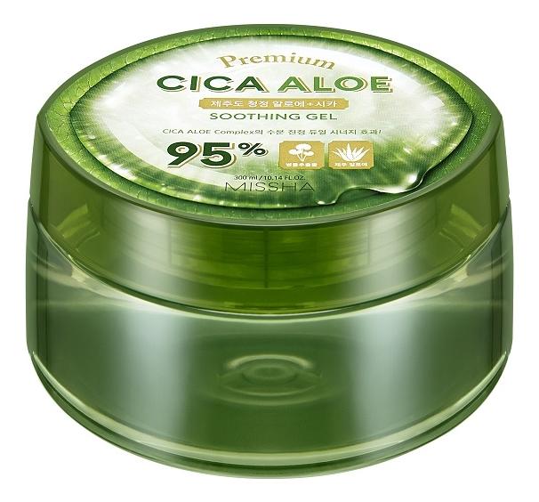 Купить Успокаивающий гель для лица и тела Premium Cica Aloe Soothing Gel 300мл, Missha