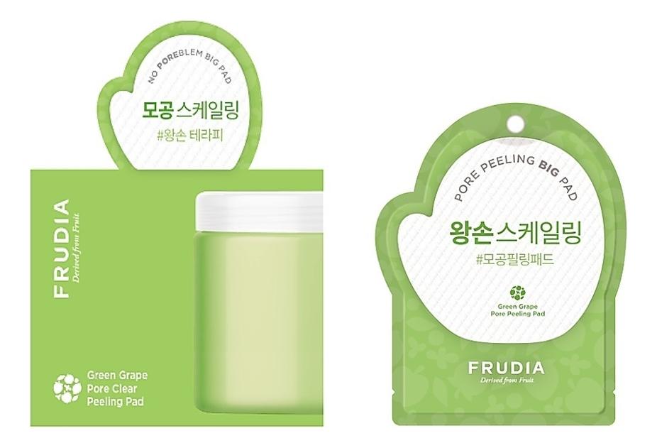 Купить Отшелушивающие диски для лица с экстрактом зеленого винограда Green Grape Pore Peeling Pad: Диски 50шт, Frudia
