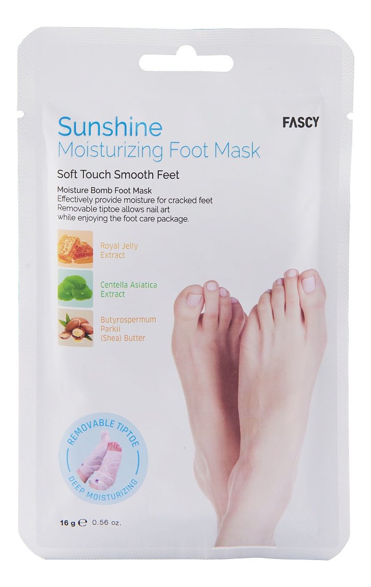 Увлажняющие маски-носочки со съемными кончиками Sunshine Moisturizing Foot Mask 16г