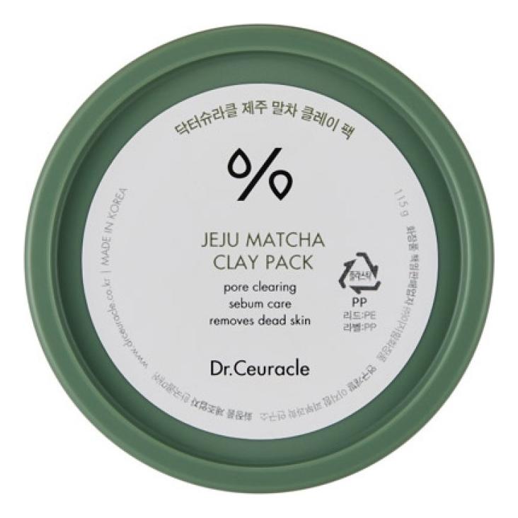 Очищающая маска для лица с глиной и зеленым чаем Матча Jeju Matcha Clay Pack 115г недорого