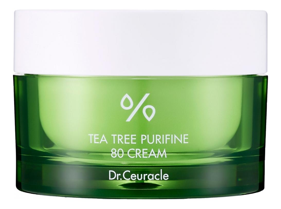 Фото - Крем для лица с экстрактом чайного дерева Tea Tree Purifine 80 Cream 50мл dr ceuracle увлажняющий крем для лица с пробиотиками pro balance biotics moisturizer 100 мл
