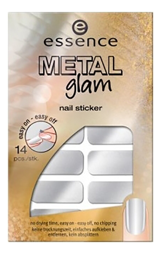 Наклейки для ногтей Metal Glam: No 01