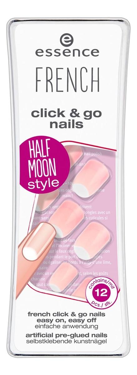 Накладные ногти на клейкой основе French Manicure Click & Go Nails No04