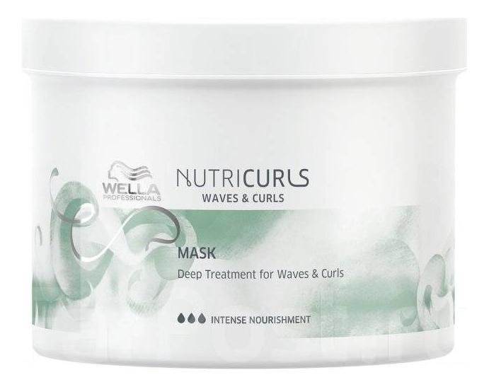 Купить Интенсивная питательная маска для волос Nutricurls Deep Treatment For Waves & Curls: Маска 500мл, Интенсивная питательная маска для волос Nutricurls Deep Treatment For Waves & Curls, Wella
