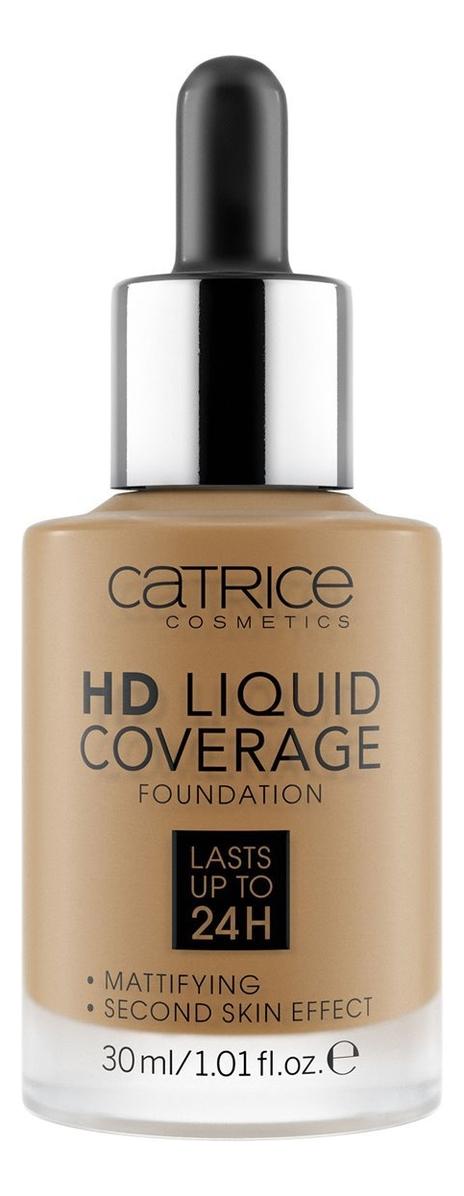 Тональная основа для лица HD Liquid Coverage Foundation 30мл: 080 Caramel Beige недорого