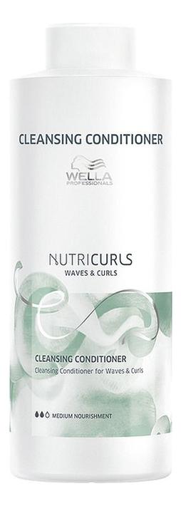 Купить Очищающий бальзам для волос Nutricurls Curls & Waves Cleansing Conditioner: Бальзам 1000мл, Очищающий бальзам для волос Nutricurls Curls & Waves Cleansing Conditioner, Wella