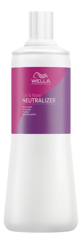 wella фиксатор curl it 1000 мл Фиксатор для закрепления химической завивки волос Curl & Wave Neutralizer 1000мл