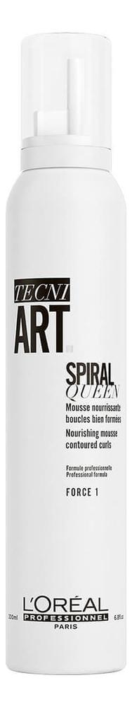 Мусс для создания локонов Tecni. Art Spiral Queen Force 1 200мл