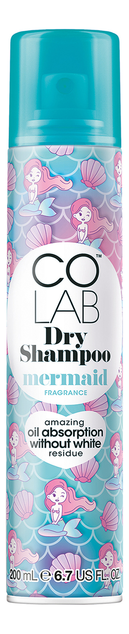 Сухой шампунь для волос Mermaid Fragrance Dry Shampoo 200мл (с ароматом морского ветра и мандарина) цена 2017