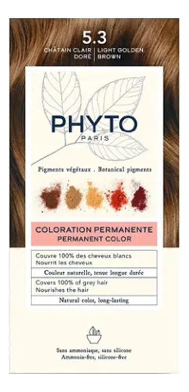 Краска для волос Phyto Color: 5.3 Светлый золотистый шатен phyto color 6