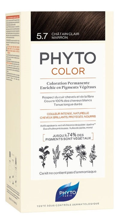 Краска для волос Phyto Color: 5.7 Светлый каштан