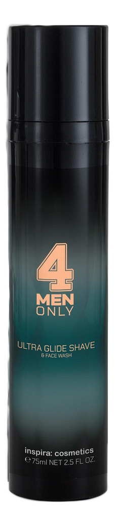Ультрамягкий гель-крем для умывания и бритья 4 Men Only Ultra Glide Shave & Face Wash 75мл