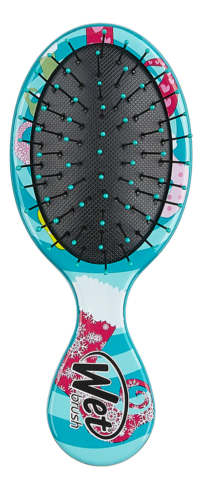 Купить Щетка для спутанных волос Mini Detangler Rocking Stockings (рождественский носок), Wet Brush