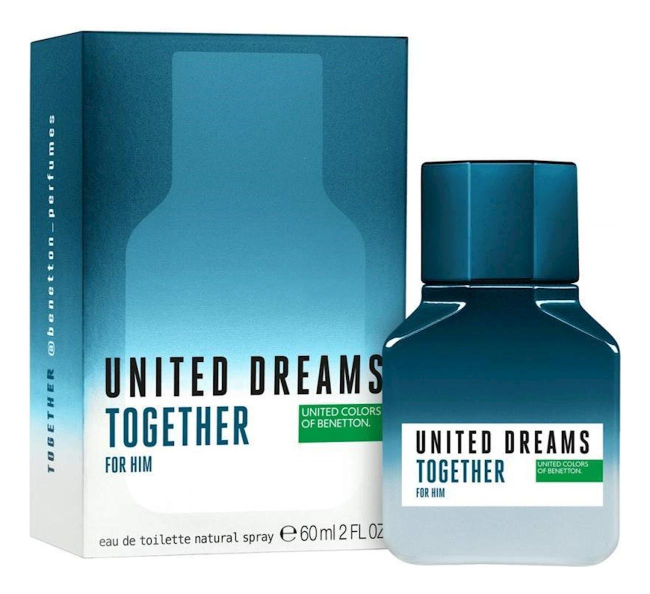 Купить United Dreams Together For Him: туалетная вода 60мл, Benetton