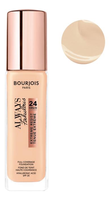 Купить Тональный крем для лица Always Fabulous Full Coverage Foundation 30мл: 100 Rose Ivori, Bourjois