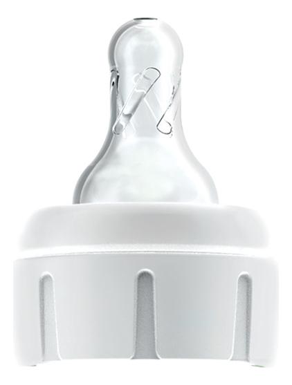 Силиконовая соска для узких бутылочек с крышкой-держателем д/соков и жидких каш