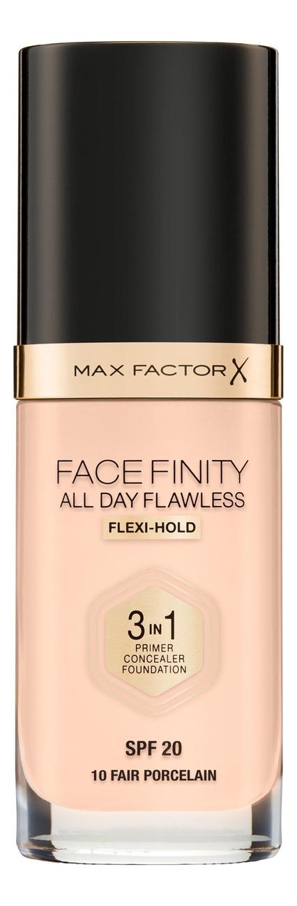 Фото - Тональная основа Facefinity All Day Flawless 3 in 1 30мл: 30 Procelan тональный крем для лица max factor facefinity all day flawless 3 in 1 30 мл