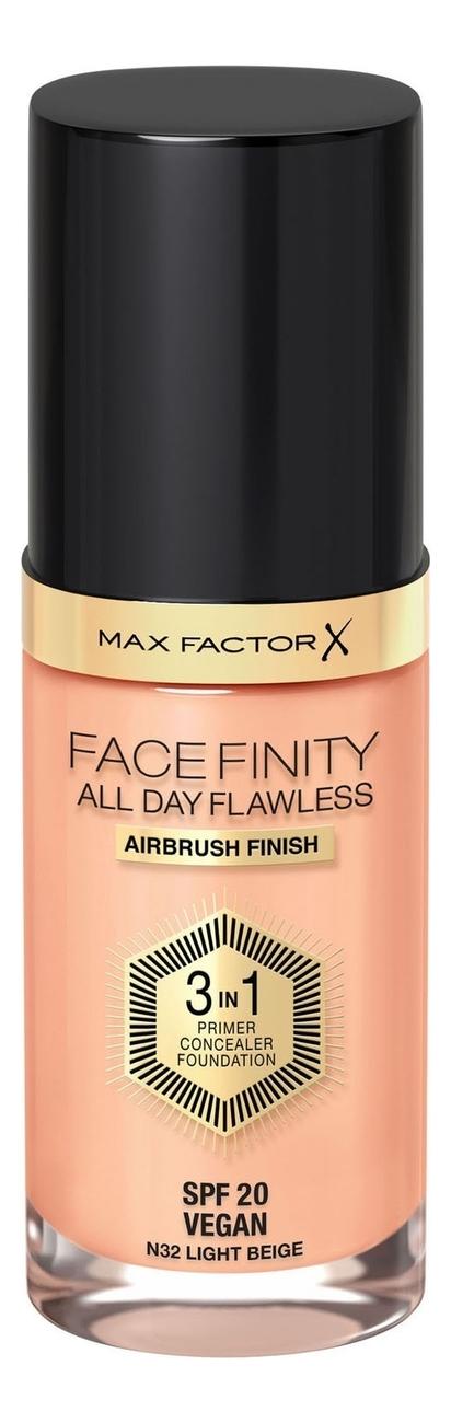 Фото - Тональная основа Facefinity All Day Flawless 3 in 1 30мл: 32 Light Beige тональный крем для лица max factor facefinity all day flawless 3 in 1 30 мл