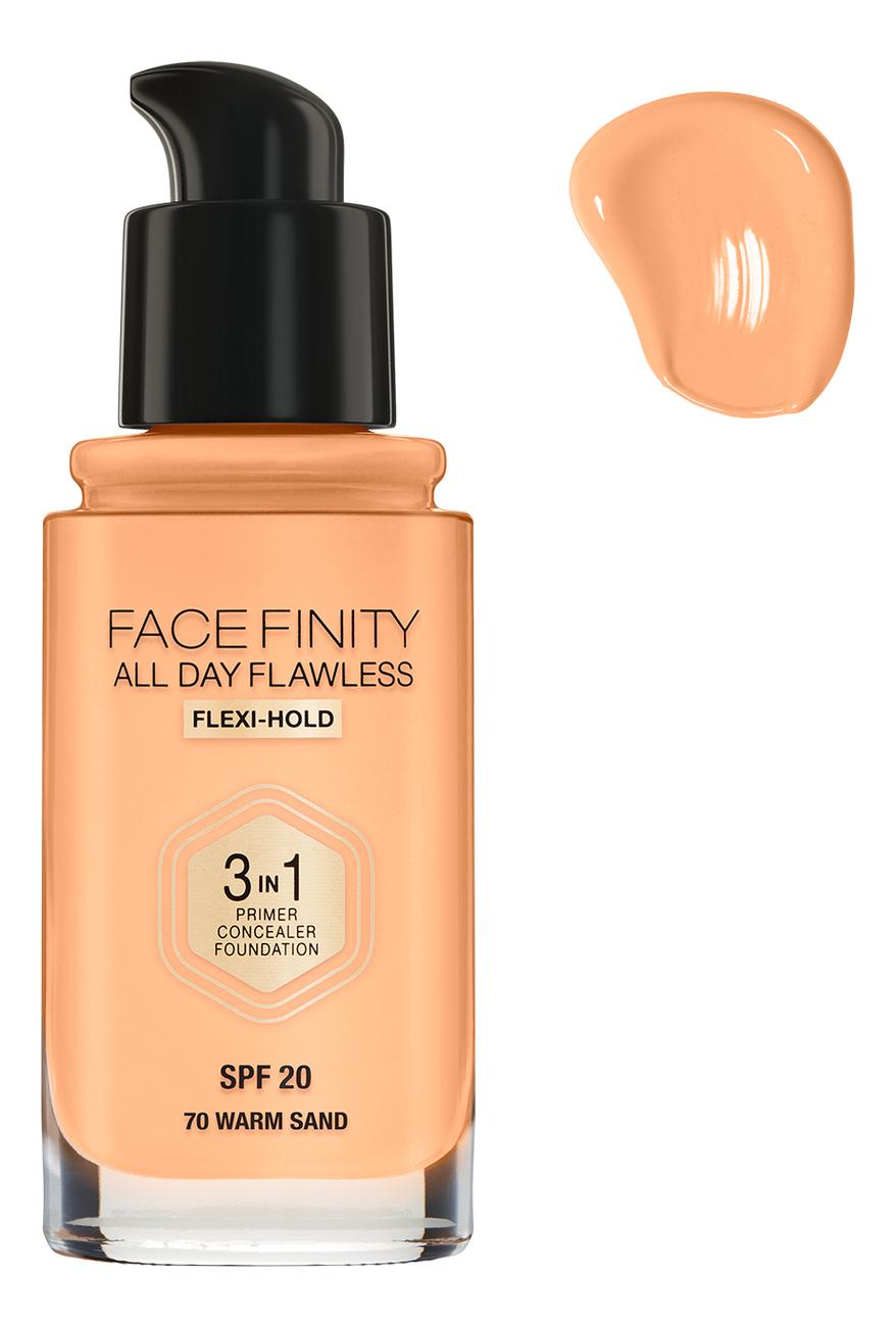 Фото - Тональная основа Facefinity All Day Flawless 3 in 1 30мл: 70 Warm Sand тональный крем для лица max factor facefinity all day flawless 3 in 1 30 мл