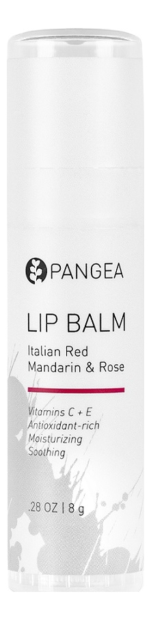 Купить Бальзам для губ Lip Balm Italian Red Mandarin & Rose 8г, Бальзам для губ Lip Balm Italian Red Mandarin & Rose 8г, Pangea Organics