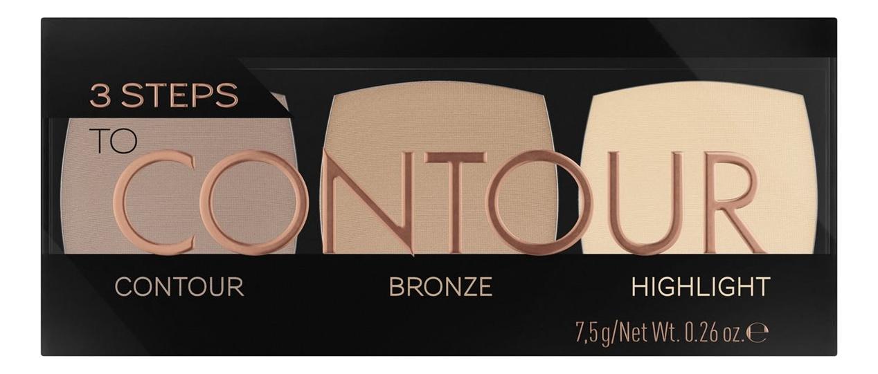 Палетка для макияжа 3 Steps To Contour Palette 7,5г: 010 Allrounder