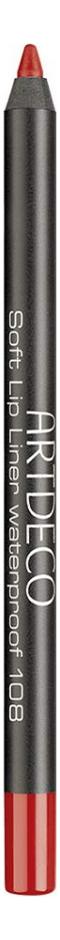 Карандаш для губ водостойкий Soft Lip Liner Waterproof 1,2г: 108 Fireball недорого