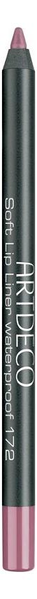Купить Карандаш для губ водостойкий Soft Lip Liner Waterproof 1, 2г: 172 Cool Mauve, ARTDECO