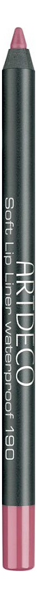 Карандаш для губ водостойкий Soft Lip Liner Waterproof 1,2г: 190 Cool Rose