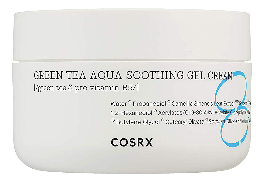 Крем-гель для лица с экстрактом зеленого чая Green Tea Aqua Soothing Gel Cream 50мл dr sea гель мыло очищающее для лица с экстрактом зеленого чая 210 мл