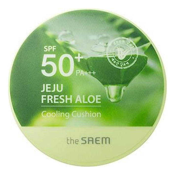 Солнцезащитный охлаждающий кушон для лица Jeju Fresh Aloe Cooling Cushion Natural Beige SPF50+ PA+++ 12г