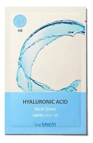 Тканевая маска для лица Bio Solution Hydrating Hyaluronic Acid Mask Sheet 20г трехфазное средство для увлажнения the saem the essential triplus hydrating ampoule 30мл
