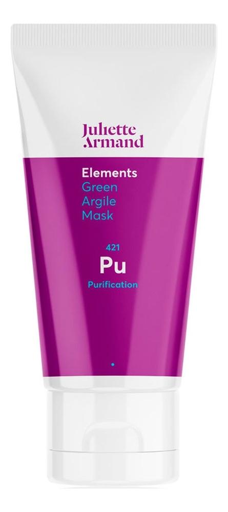 Скраб-маска для глубокого очищения кожи лица Elements Green Argile Mask 50мл algologie крем эксфолиант для глубокого очищения морской 50мл