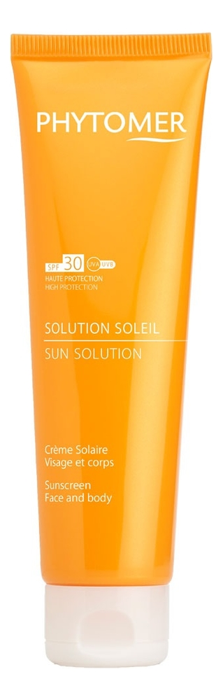 Солнцезащитный крем для лица Solution Soleil Creme Solaire Visage Et Corps SPF30 125мл недорого