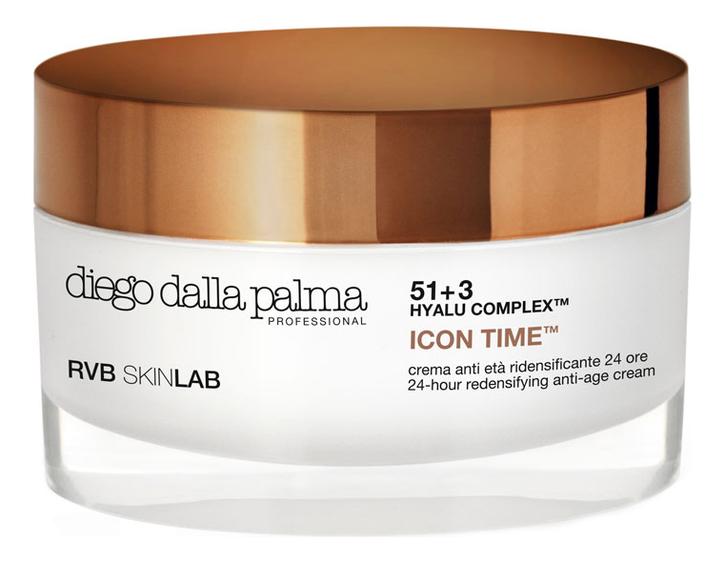Купить Восстанавливающий крем для лица с золотом Icon Time 24-Hour Redensifying Anti-Age Cream 50мл, Diego dalla Palma
