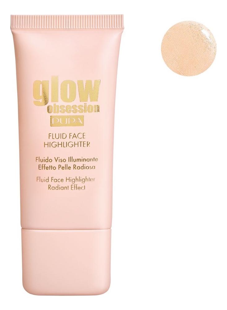 Купить Жидкий хайлайтер для лица Glow Obsession Fluid Face Highlighter 30мл: No 001, PUPA Milano
